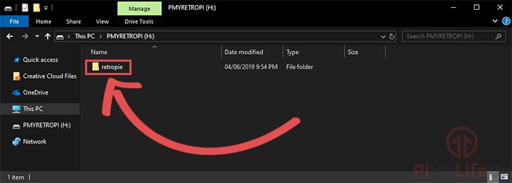 Raspberry Pi RetroPie - Windows - Create retropie Folder