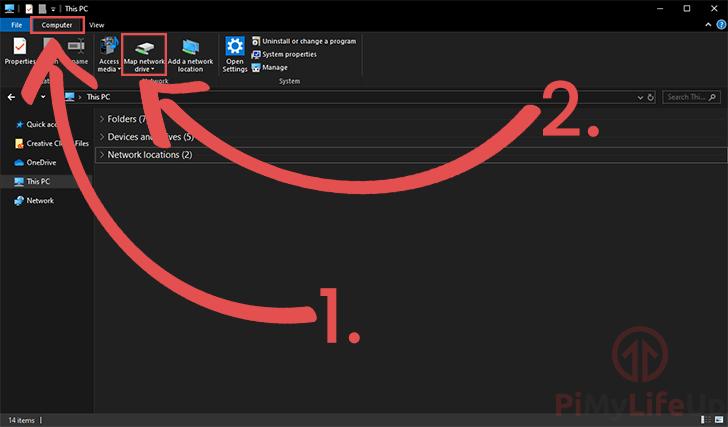 Windows File Explorer Map Network Drive