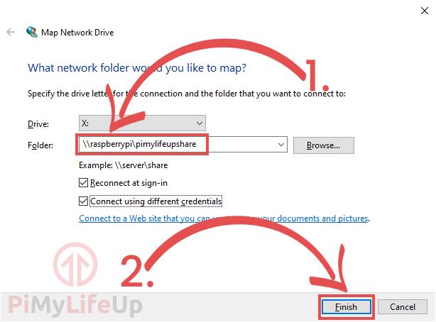 Windows Samba Network Drive Details
