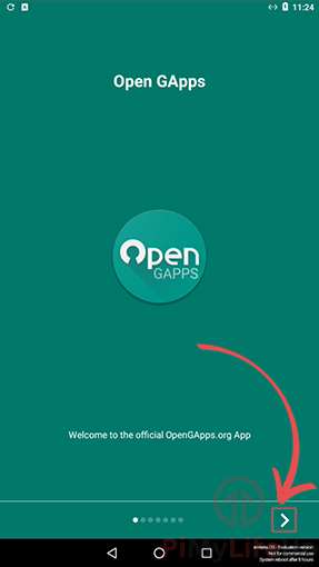 OpenGApps Welcome