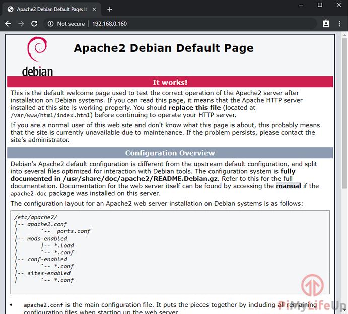 Raspberry Pi Apache Web Server Default Page