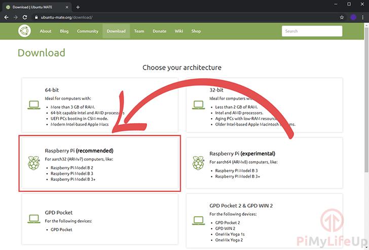 Ubuntu Mate Website Download Page