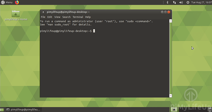 Ubuntu Mate terminal on the Raspberry Pi