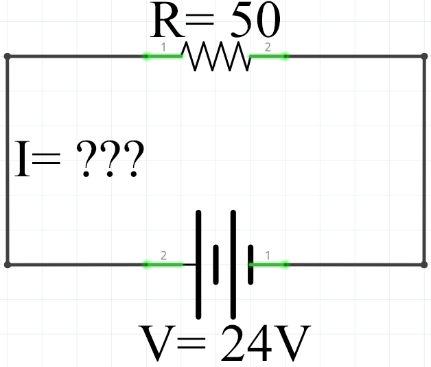 Ohms Law Example 2 Calculating Circuit Current