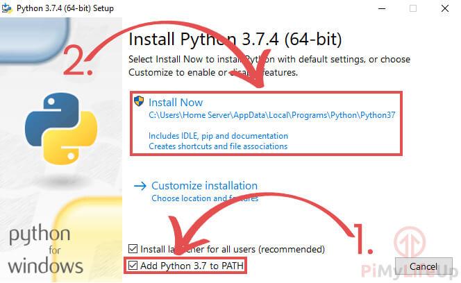 Python for Windows Install Now