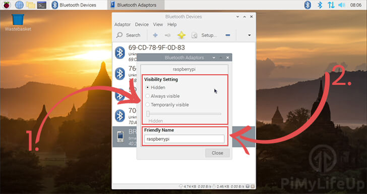 Adjust Visibility and Friendly name of Bluetooth Adaptor