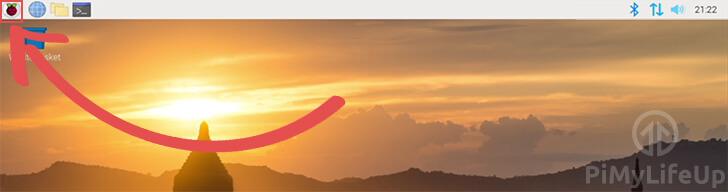 Open Start Menu - Raspberry Pi Icon