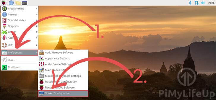 Screen Configuration Tool Within Start Menu