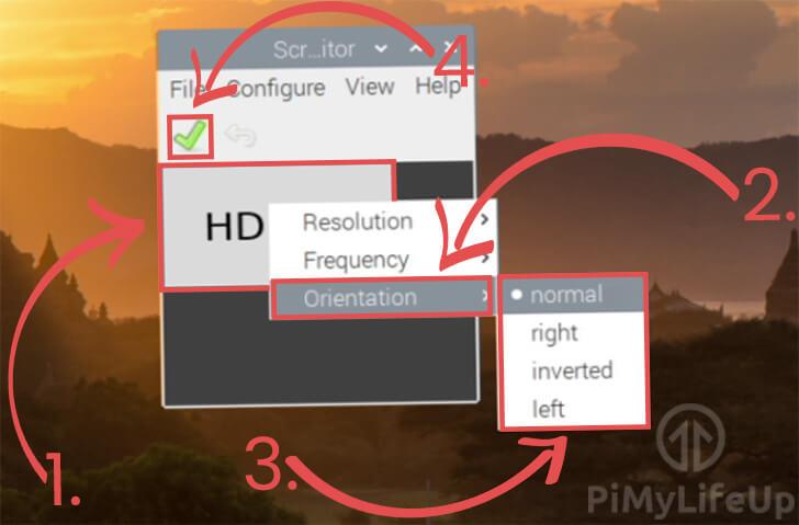 Using the Raspberry Pi Screen Configuration Tool