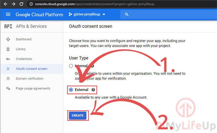OAuth Consent Screen External