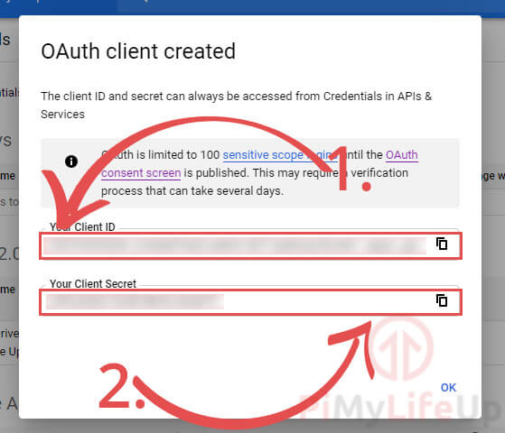 Oauth Client Data Created