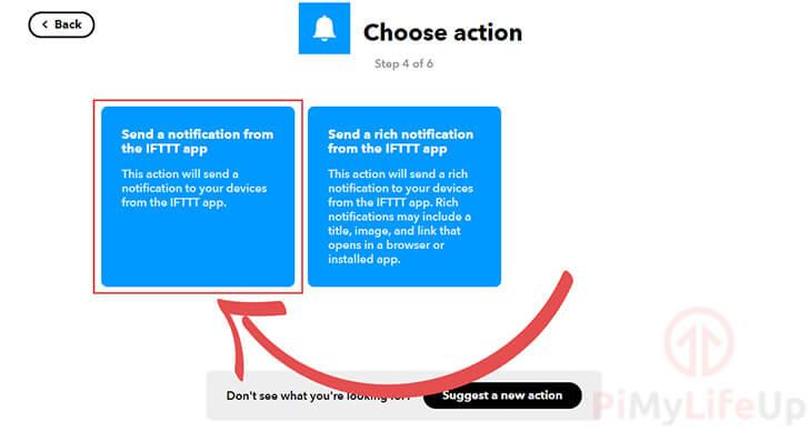 Choose Notification Type