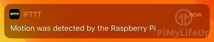 Raspberry Pi IFTTT App Notification