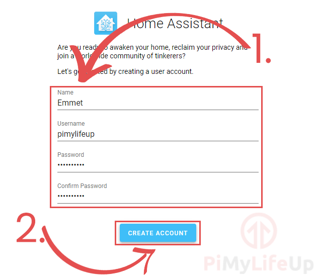 Create User Account