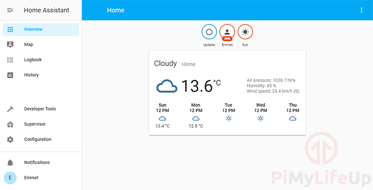 Raspberry Pi Home Assistant Dashboard