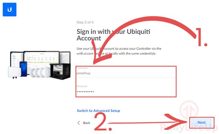 Sign in to Ubitquiti Account