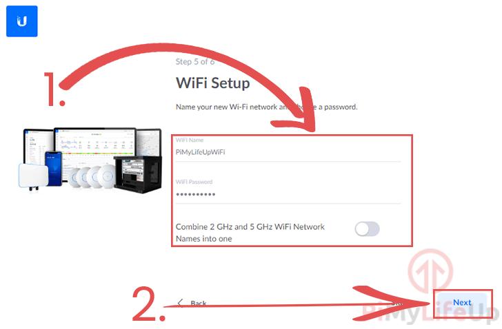 Setup UniFi WiFi Details