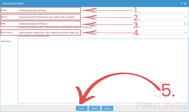 Create Shared Folder OpenMediaVault