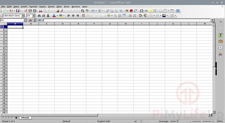 LibreOffice Calc Running on Raspbian