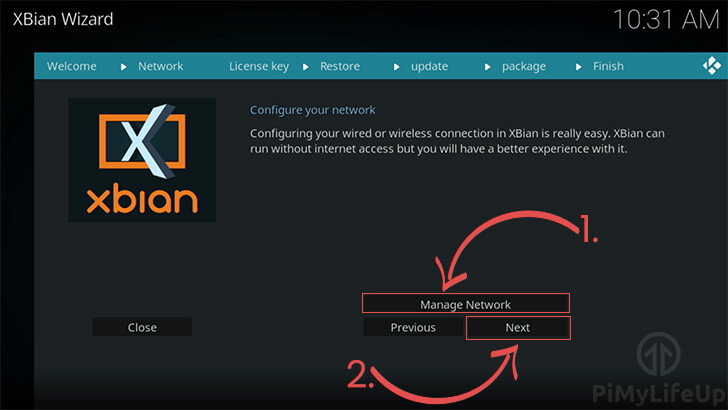 Configure Network within XBian