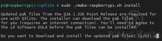 Install q3lite pack files