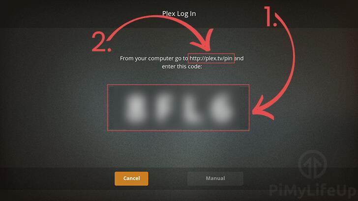 Log in to Plex Using Code