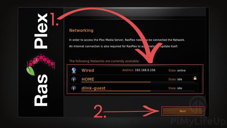 RasPlex Network Configuration