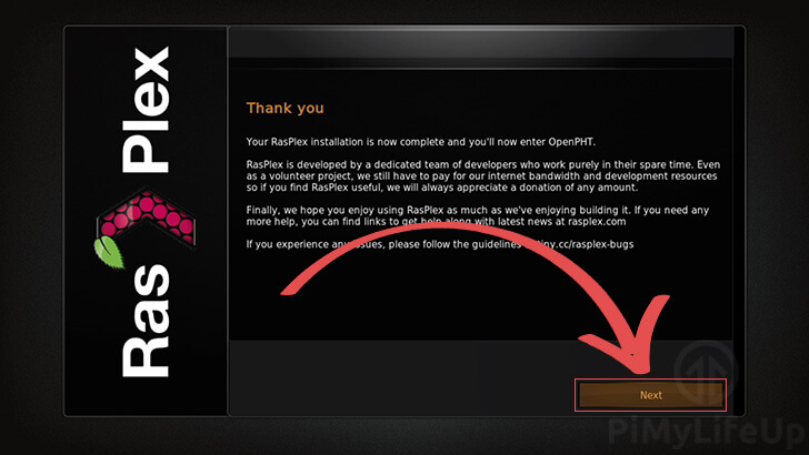 Thank you for Installing RasPlex