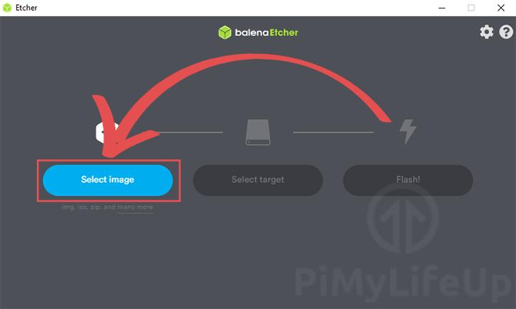 Select CentOS image to write to Raspberry Pi