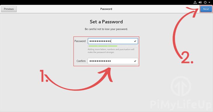 Set CentOS account password