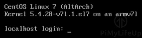 CentOS Minimal running on the Raspberry Pi