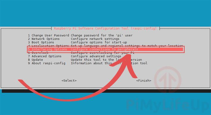 Raspberry Pi Raspi-Config Interfacing Options