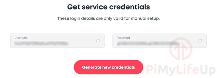 Raspberry Pi Surfshark Service Credentials