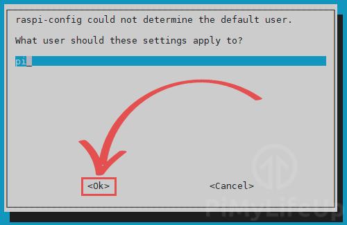 Raspi-Config cant determine user