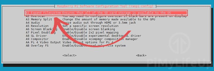 Raspi-Config Expand Filesystem