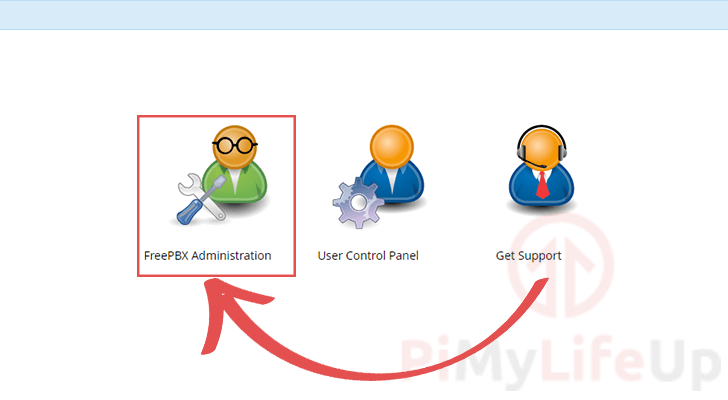 Click to Login to FreePBX Administration