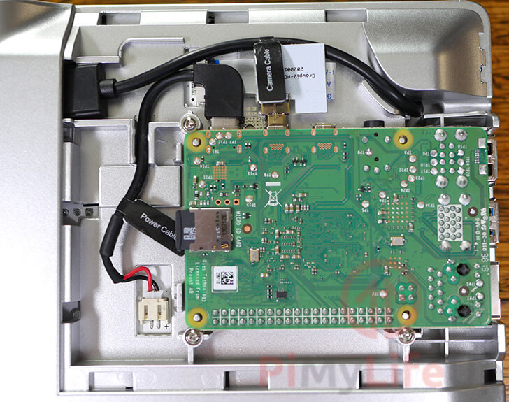 Pi installed in device