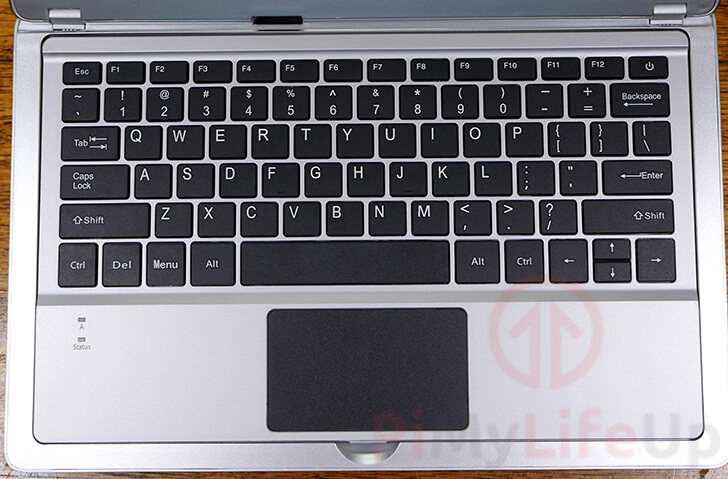 Keyboard in place