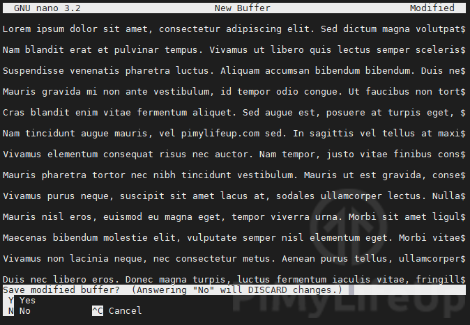 nano save file