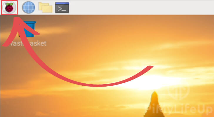 Opening the Start Menu on Raspbian