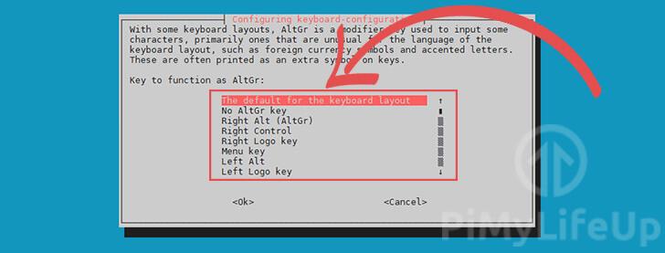 Keyboard Layout AltGR Modifier Key