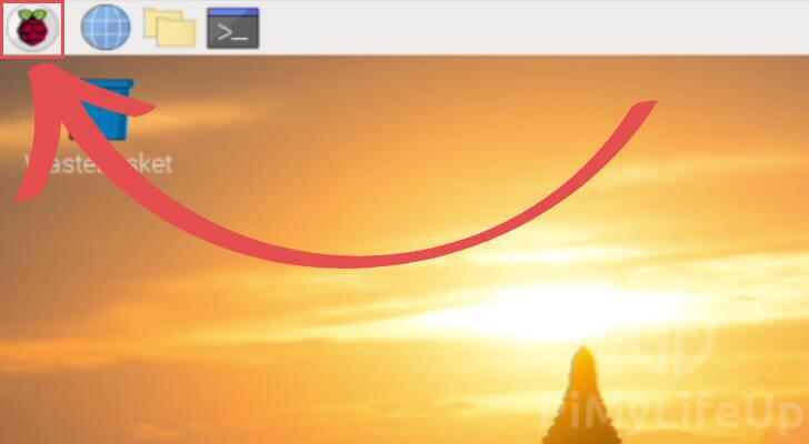 Raspberry Pi Kodi Desktop - Start Menu Icon