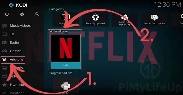 Opening the Netflix app