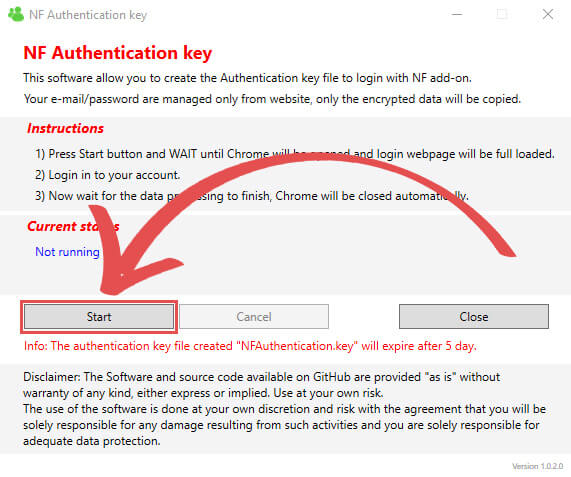 Windows Generate NF Authentication Key