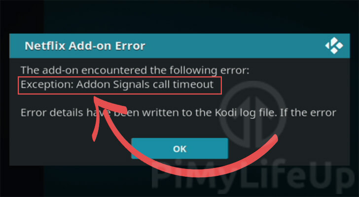 Addon Signals Call Timeout Error