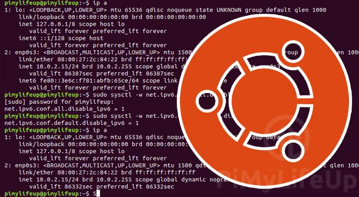 Disable IPv6 on Ubuntu