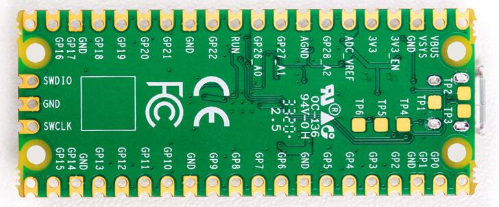 Raspberry Pi Pico Underside GPIO