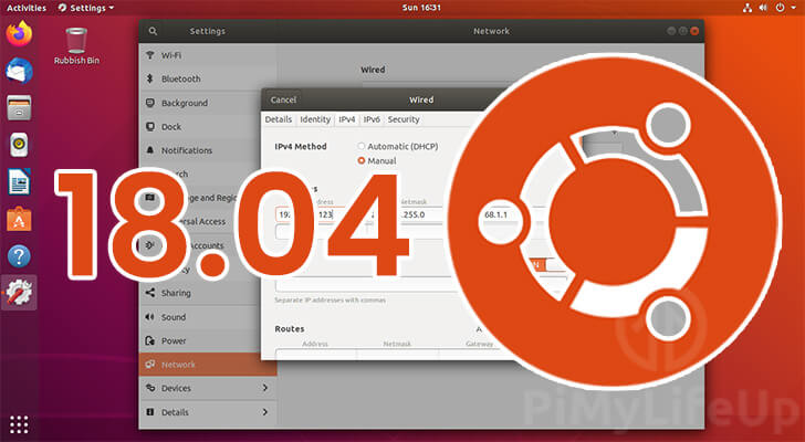 Ubuntu 18.04 Static IP Address