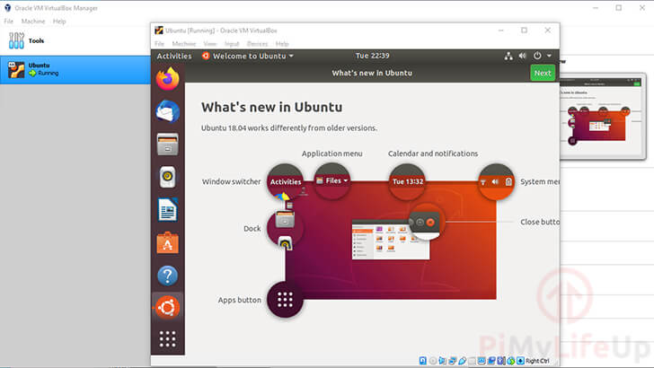 Ubuntu Successfully Running
