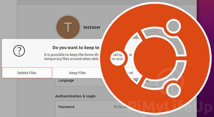 Delete user on Ubuntu